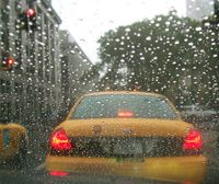 Cab-in-rain