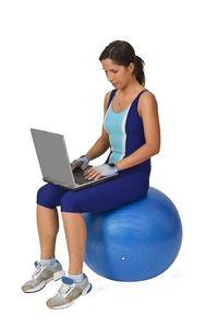 Woman-exercise-ball